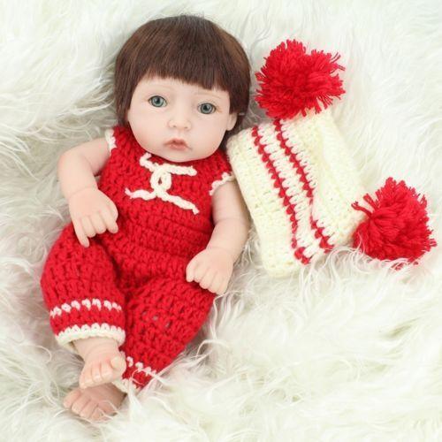 USA 11Reborn Baby Doll Lifelike Vinyl Newborn Girl Handmade Silicone Realistic