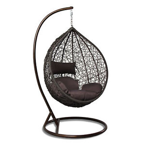 Charmant Details About Tear Drop Outdoor Hanging Hammock Wicker Swing Chair Egg  Shape New