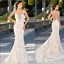 Wedding-Dresses-Long-Sleeves-Sheer-Neck-Bridal-Gowns-Sexy-Vintage-Mermaid-Lace thumbnail 1