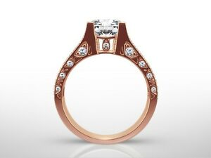 Acheter Pas Cher 1.50 Ct Princess Cut H/vvs2 Diamond Solitaire Engagement Ring 14k Rose Gold