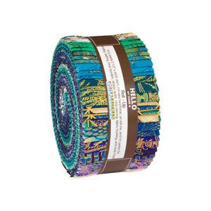 Treasures-Of-Alexandria-Jewel-Roll-Up-2-5-034-Fabric-Quilt-Strips-RU-866-40-J11