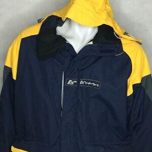 Burton-Snowboard-Hooded-Jacket-Toast-Insulated-Sz-L-Blue-Yellow-Winter-Ski-Snow