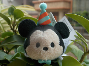 New Disney 2016 Birthday Mickey Mouse Tsum Tsum Mini Plush Doll Toy