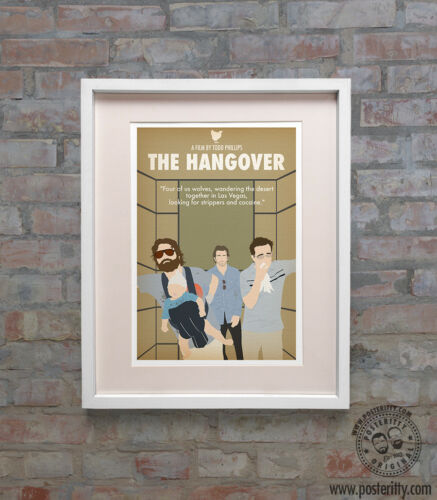 HANGOVER Minimalist Art Movie Poster Minimal Print by Posteritty A4//A3 Card