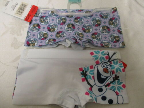 4 pair Disney Frozen Seamless Boyshort Girls Underwear Size S 4-6 Tagless NWT