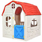 Costway TY327185 Foldable Cottage Kids Playhouse