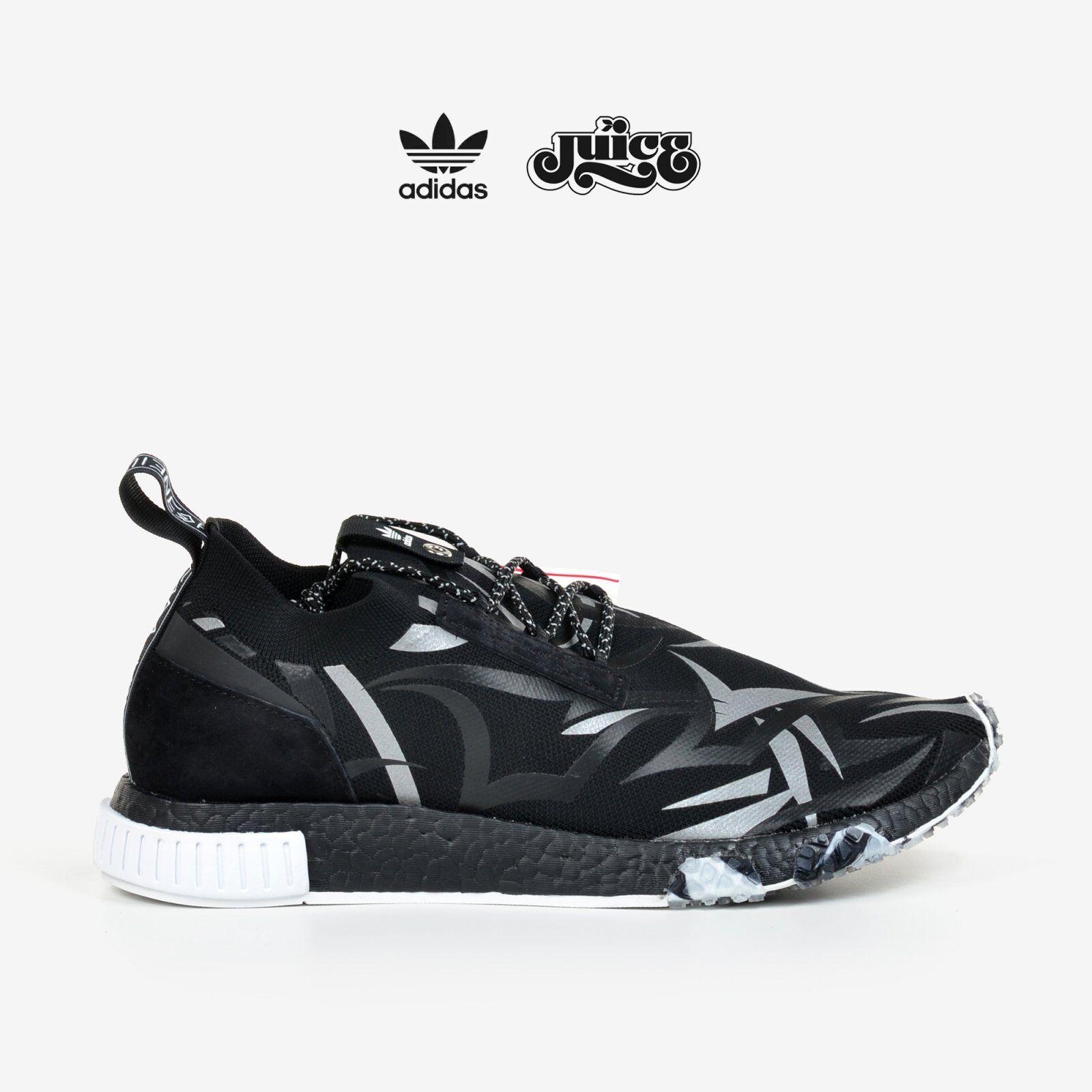 Adidas Consortium X Juice NMD Racer Alienegra bianca nero with scarpe Bag DB1777