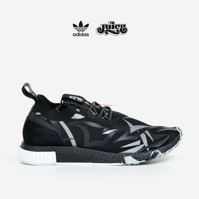 detailed look 01807 f4d84 Adidas Consortium X Juice NMD Racer Alienegra White Black with Shoe Bag  DB1777