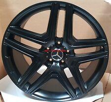 20 Mercedes Wheels G Wagon G55 G550 G500 AMG G63 Style Satin Black Rims 5x130 22