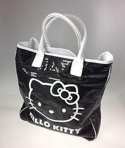 Bolso C/Asas Grande Hello Kitty Urbano Elegante Black By Sanrio
