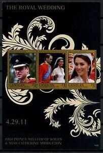 Canouan 2011 Mariage Royal Neuf Sans Charnière M/s #d84798-afficher Le Titre D'origine