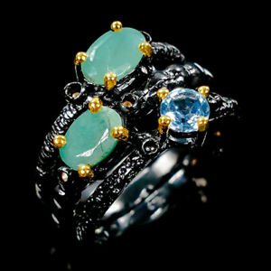 Handmade-Natural-Emerald-925-Sterling-Silver-Ring-Size-6-5-R108518