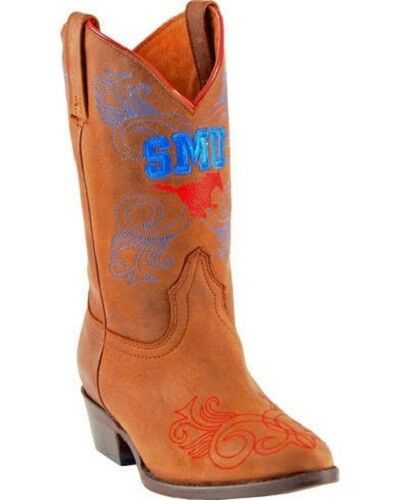 Southern Methodist Mustang Gameday Boots Western Girls Size 11 Honey SMU-G027-1