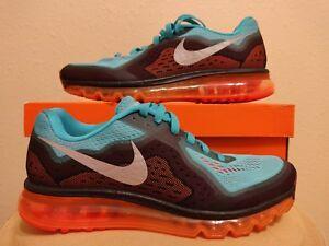 3adbd4831348 Nike Air Max 2014 Running Shoe Hyper Jade Orange Black (621077-302 ...