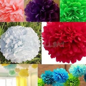 Paper Flower Balls For Wedding 10PCS Tissue Paper Pom Flowers Balls Wedding Flower Birthday Party