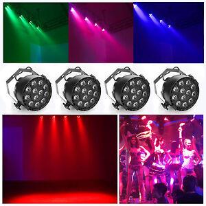 RGB Par Uplighting DJ DMX Color Mixing Wash Stage Wedding light 15W 4 Pack