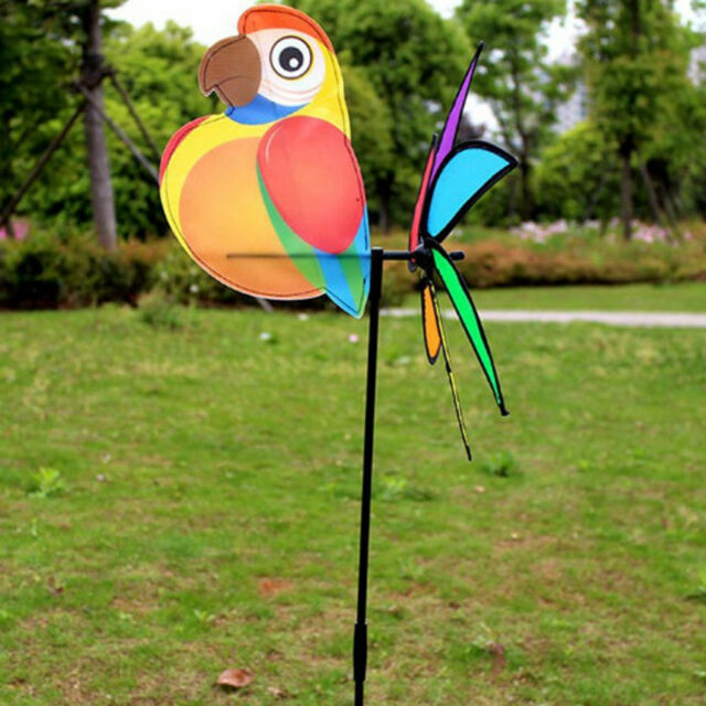 6 Wheel Colorful Plastic Sequins Windmill Whirligig Winds Spinners Yard Decors