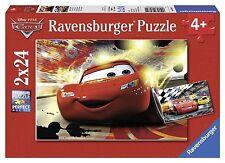 Ravensburger Disney Cars: Cars Grand Entrance 2 puzzles set, 24-Piece each MINT