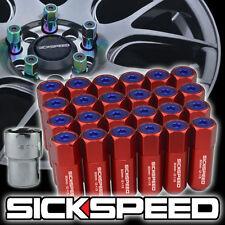 SICKSPEED 24 PC RED/BLUE CAPS ALUMINUM LOCKING LUG NUTS WHEELS 12X1.25 L13
