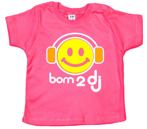"Baby Music T-SHIRT /""BORN 2 DJ/"" Drôle bat Festival Casque"