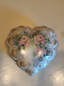 Jean Forney 1999 porcelaine Bijou Boîte à bijoux rose motif floral peint à la main-afficher le titre d`origine aoGflCAC-09155656-475466331