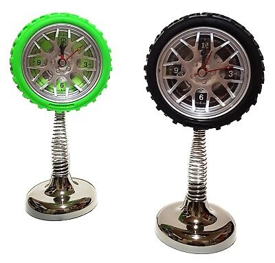 Quarz Feder Wecker Uhr Tischuhr Reifen Auto Felgen Autoreifen Garage Werkstatt Duurzaam In Gebruik