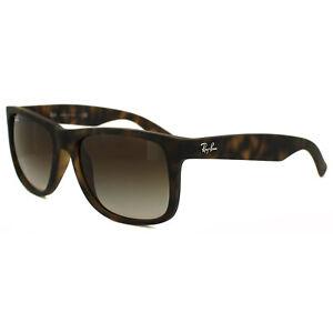 c334bec068fa Image is loading Rayban-Sunglasses-Justin-4165-Rubber-Light-Havana-Brown-