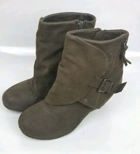 0ced5444e5d Image is loading Blowfish-Malibu-Ankle-Boots-Womens-Brown-Zip-Buckle-