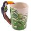 thumbnail 62 - Animal Shaped Handle Ceramic Mug Tea Coffee Cup Novelty Gift Jungle Tropical