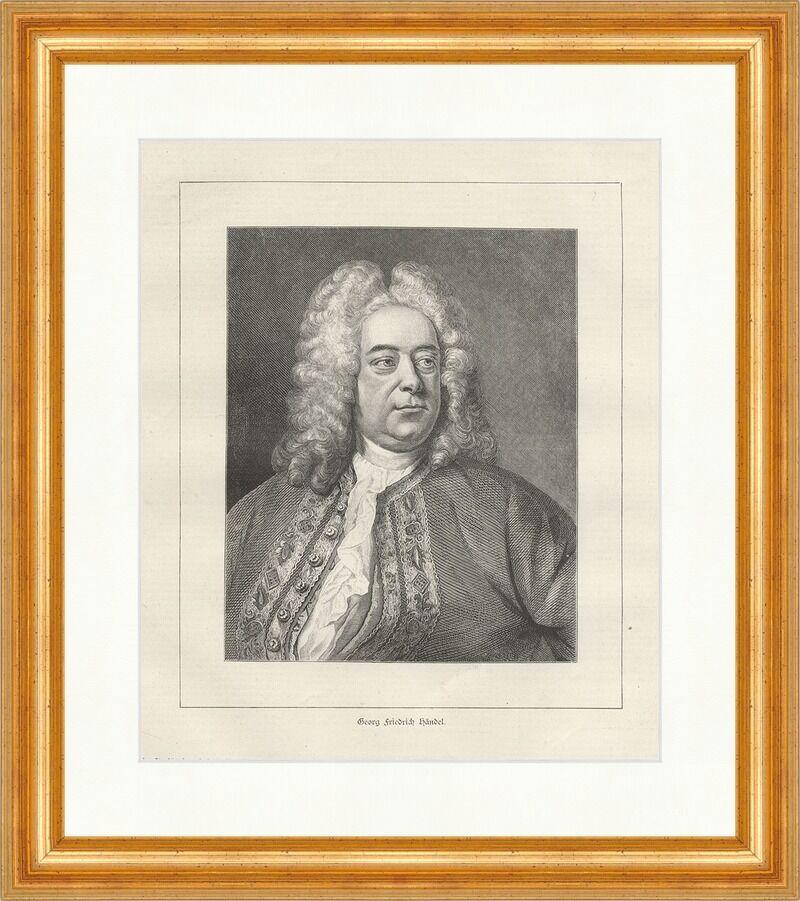 Johann Sebastian Bach Hausmann deutscher Komponist Barock Holzstich E 10974