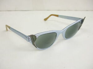 Vintage Tura Winged Cat Eye Bi Focal Sun Glasses - Chrome Look - Very Nice