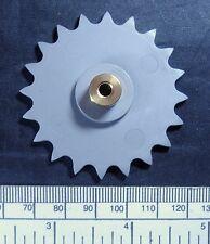 Sprocket for plastic chain - 20 teeth - 54mm diameter - brass hub 4mm bore