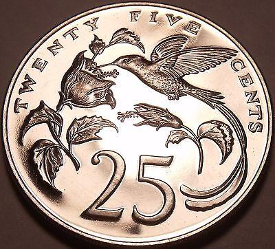 Huge Proof Jamaica 1974 25 Cents Hummingbird Mintage 22 000 Free Shipping Ebay