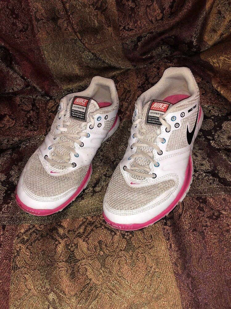 Nike Free HyperTR ( Women's ) ( 396106 101 ) Ink / Mesh - Pink - White Black 8.5