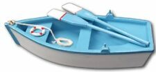 Detailed model wooden rowing boat - perfect finishing touch for nautical theme