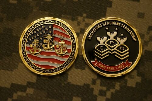 Challenge Coin NEW US Navy Chief Petty Officers CPO Since April 1893