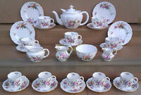 ROYAL CROWN DERBY - DERBY POSIES - SELECTION OF TEA WARE