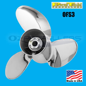 15-1-4-x-20-Mercruiser-Power-Tech-Stainless-Propeller-OFS-3-Blade-Prop-Offshore