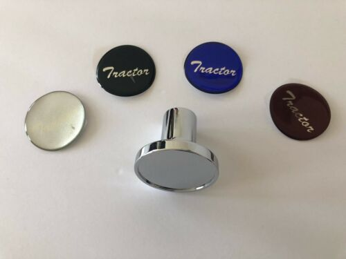 """/""""Tractor/"""" Chrome Deluxe Air Valve Knob w// Glossy Sticker"""