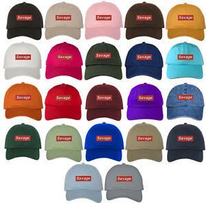 bf96267e17a28 Image is loading Savage-Patch-Embroidered-Dad-Hat-Baseball-Cap-Many-
