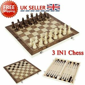 3in1-FOLDING-WOODEN-CHESS-SET-Board-Game-Checkers-Backgammon-Draughts-Gift