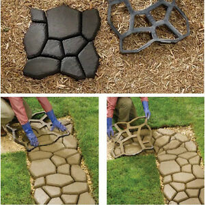 Diy patio driveway concrete stepping stone path walk maker paving image is loading diy patio driveway concrete stepping stone path walk solutioingenieria Choice Image