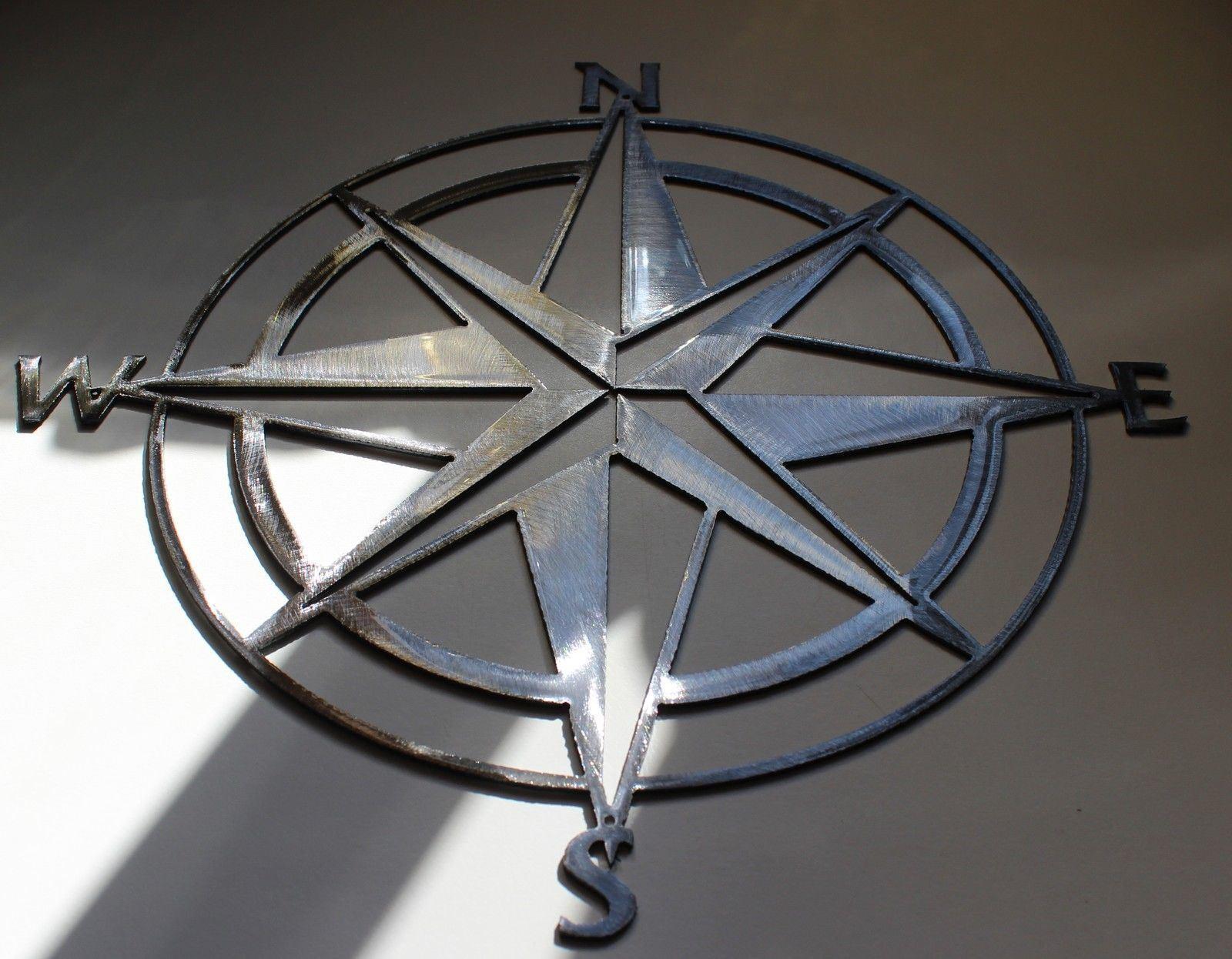 Nautisch Nautisch Nautisch Zirkel Rosa 26   Wandkunst Dekor Silber Fassung   Sonderangebot  b0b509