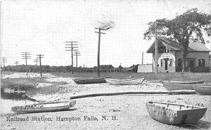 e815b41c73e Image is loading Hampton-Falls-NH-Railroad-Station-Train-Depot-Postcard
