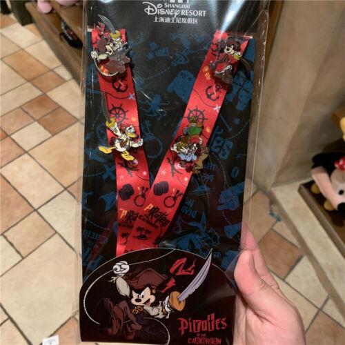 SHDR Disney Pin lanyard Pirates of the Caribbean shanghai Disneyland exclusive