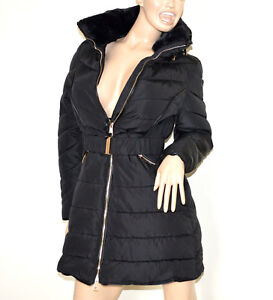 Doudoune-noir-long-manteau-femme-veste-jaquette-blouson-rembourre-fourrure-G3