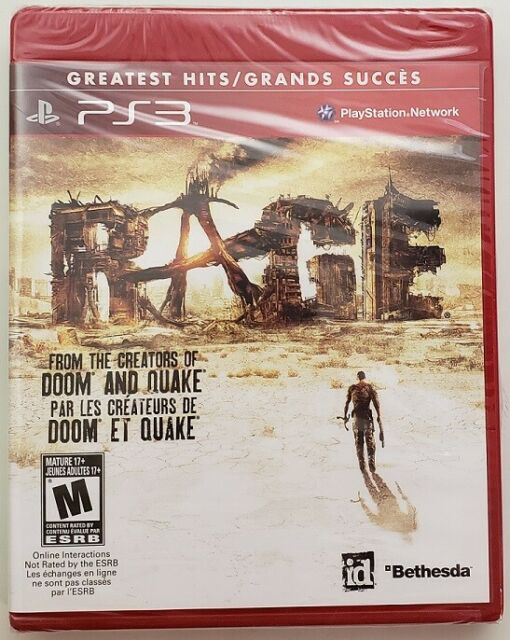 Rage Playstation 3 PS3 Greatest Hits New Sealed