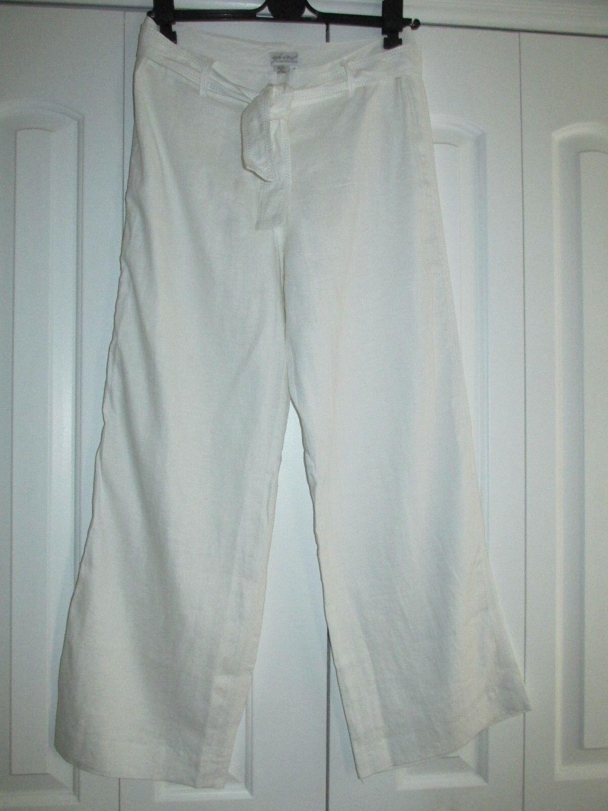 New Spirit by Coldwater Creek Size 10 Wide Leg Linen Pants