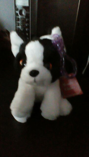 Russ Yomiko Classics Soft Boston Terrier Dog Clip 4 Plush Stuffed