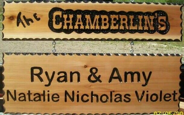 PERSONALIZED SOLID CEDAR SIGNS CAMPING SIGNS HOUSE SIGNS